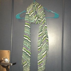 Accessories - Blue, Green, Silver and Black Patterned Scarf